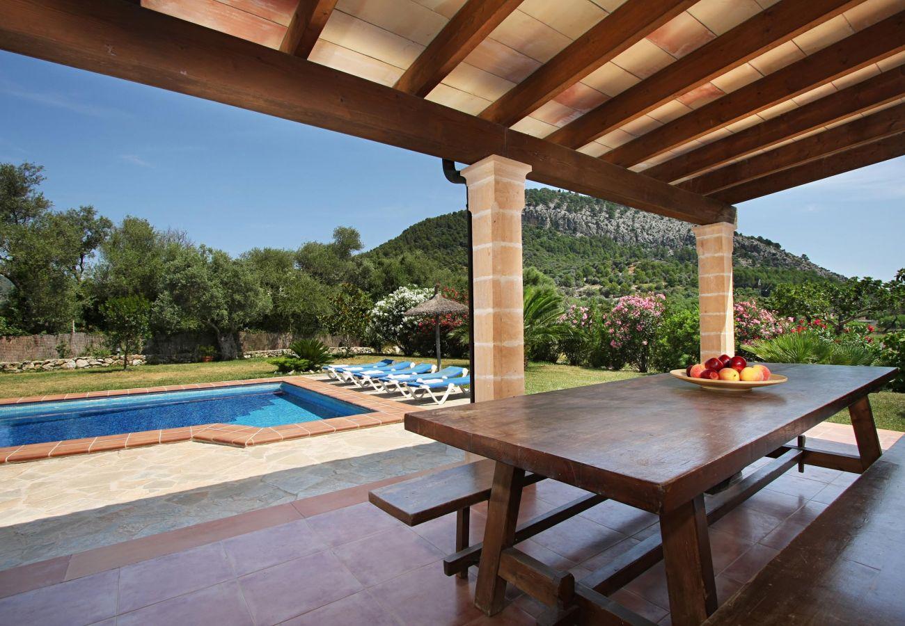 Villa en Pollensa - CARAGOLA. Gran jardín con bellas vistas