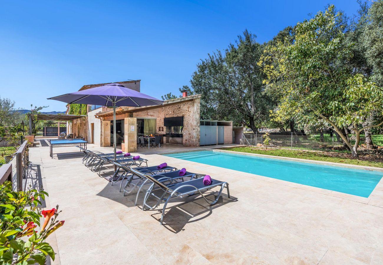 Villa en Pollensa - CREVETA. Magnífica casa ideal para desconectar de la rutina diaria