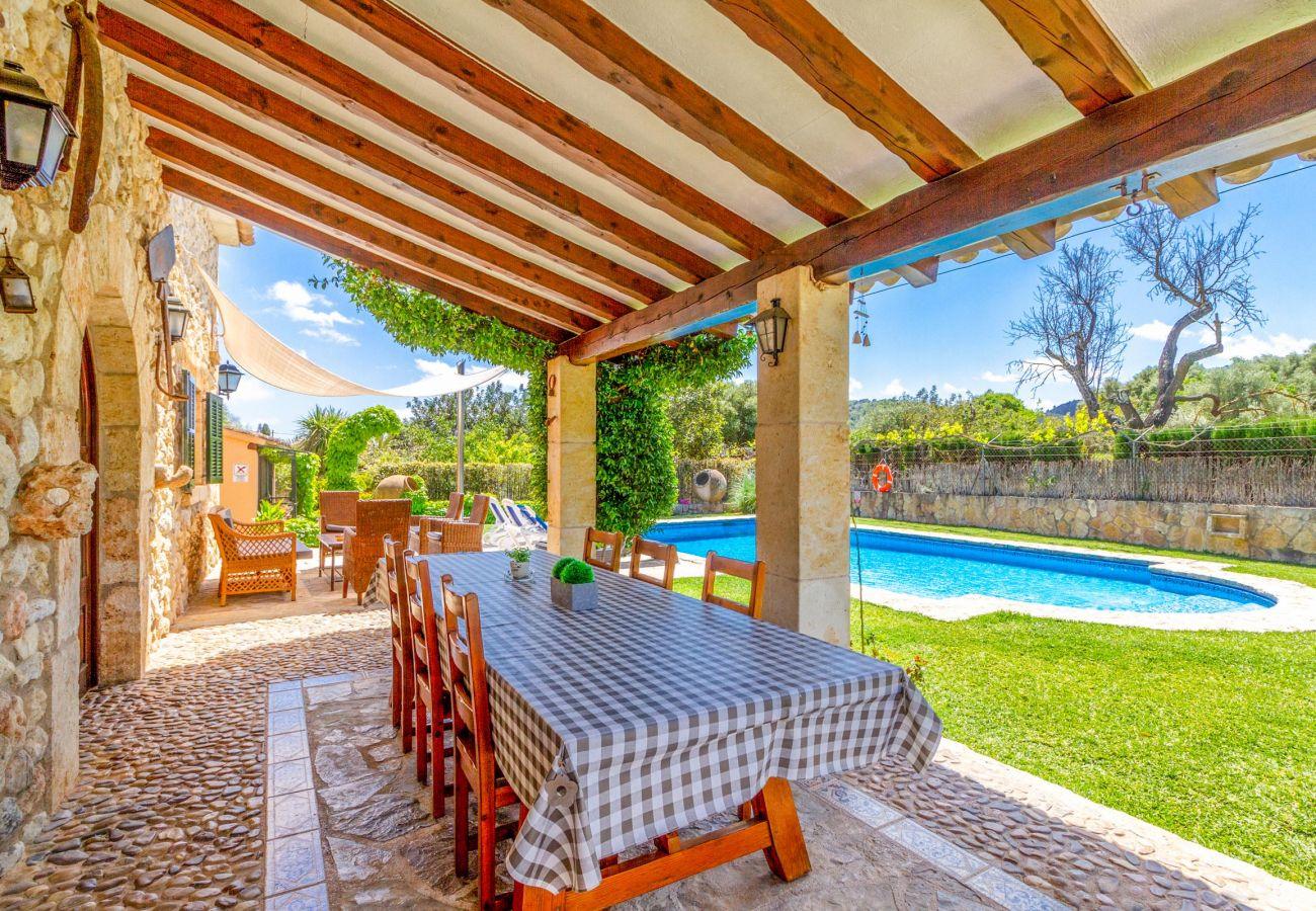 Villa en Pollensa - SERGI. Bonita casa de campo cerca de Pollensa