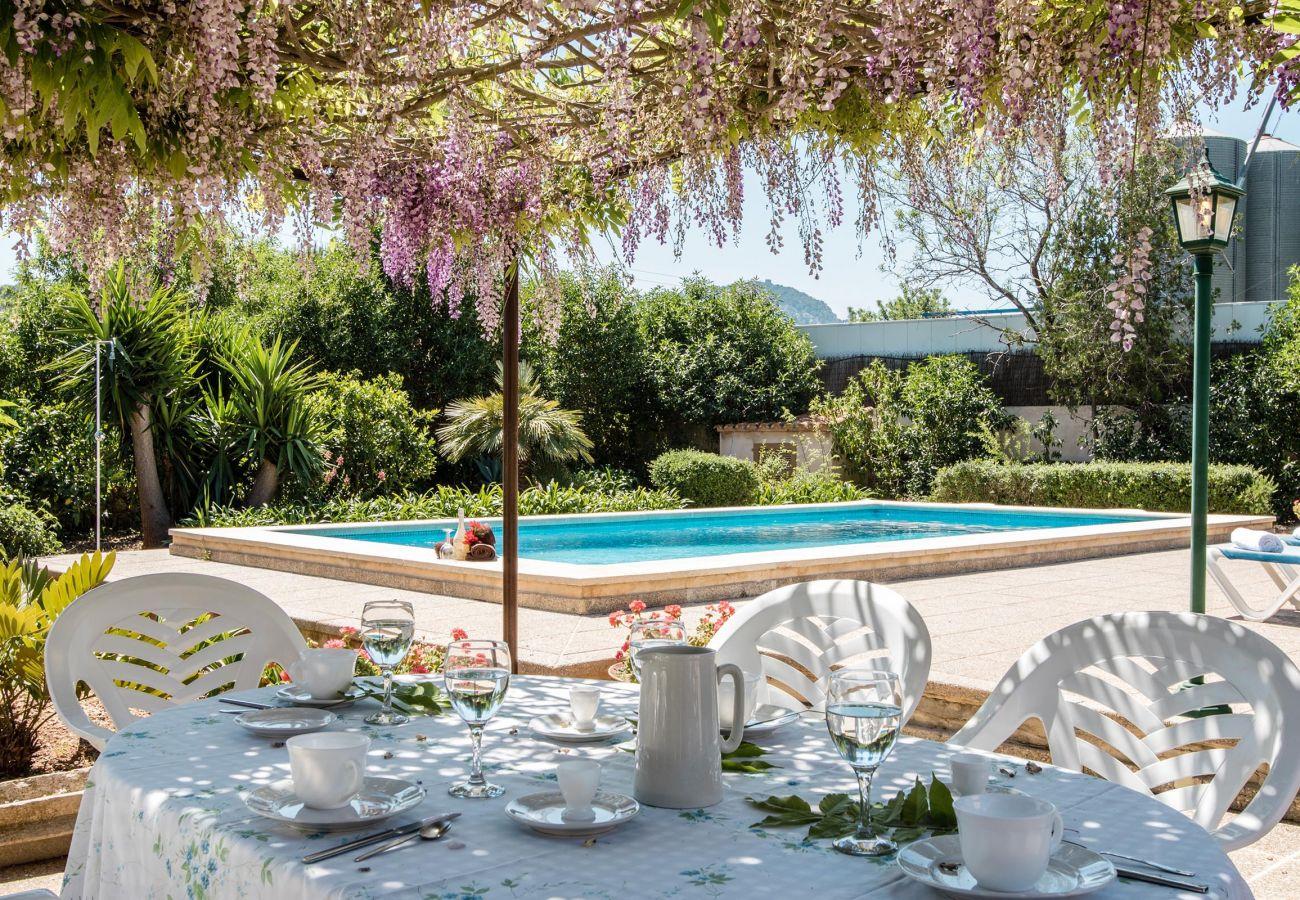 Villa en Pollensa - PANADA. Enorme barbacoa cubierta y a menos de 300 mts del supermercado