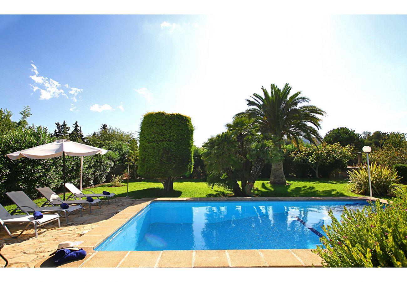 Villa en Pollensa - MORENO. Fabuloso jardín, vacaciones memorables